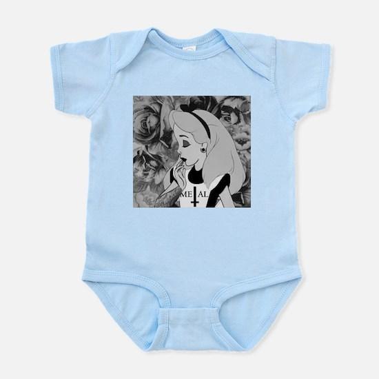 metal alice Infant Bodysuit