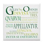 Gallia (green) Tile Coaster