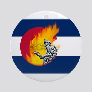 Black Forest Fire, Colorado Springs Ornament (Roun