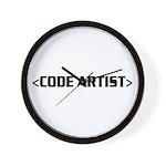 CODE ARTIST Wall Clock