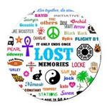 LOST Memories Round Car Magnet