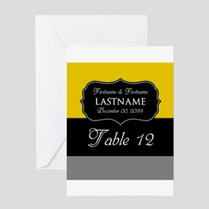 Table Numbers Sign - modern Greeting Card