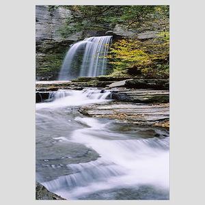 Stream flowing below a waterfall, Eagle Cliff Fall