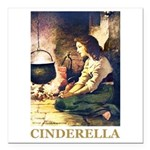Cinderella Square Car Magnet 3