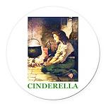 Cinderella Round Car Magnet