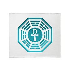 Dharma Blue Ankh Throw Blanket