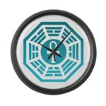 Dharma Blue Ankh Large Wall Clock