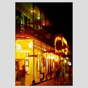 Restaurant lit up at night, Bourbon Street, New Or