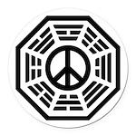 Dharma Peace Round Car Magnet