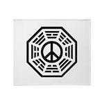 Dharma Peace Throw Blanket