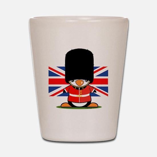 British Soldier Penguin Shot Glass