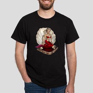 Cute Cartoon Mermaid Dark T-Shirt