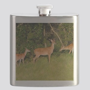 American White Tail Deer Buck Flask