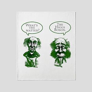 Higgs Boson Humor Throw Blanket