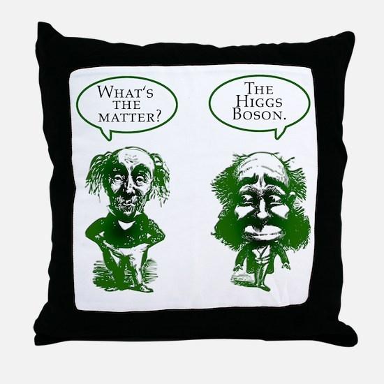 Higgs Boson Humor Throw Pillow
