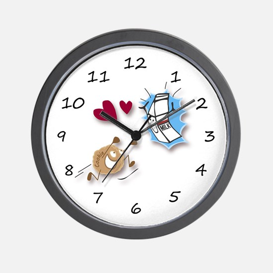 Milk and Cookies Wall Clock