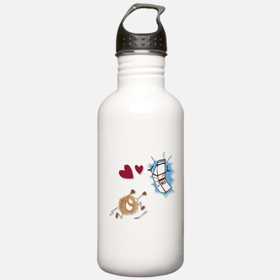 Milk and Cookies Water Bottle