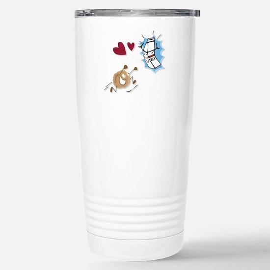 Milk and Cookies Stainless Steel Travel Mug