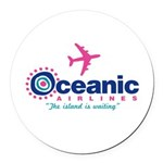 Oceanic Airlines Round Car Magnet