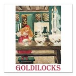 Goldilocks Square Car Magnet 3