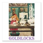 Goldilocks Square Car Magnet 3