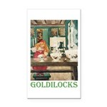 Goldilocks Rectangle Car Magnet