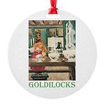 Goldilocks Round Ornament