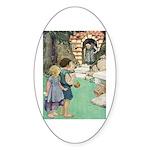 Hansel and Gretel Sticker (Oval 10 pk)