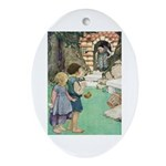 Hansel and Gretel Ornament (Oval)