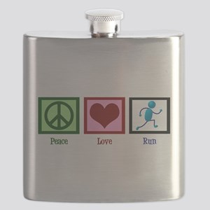 Peace Love Run Flask