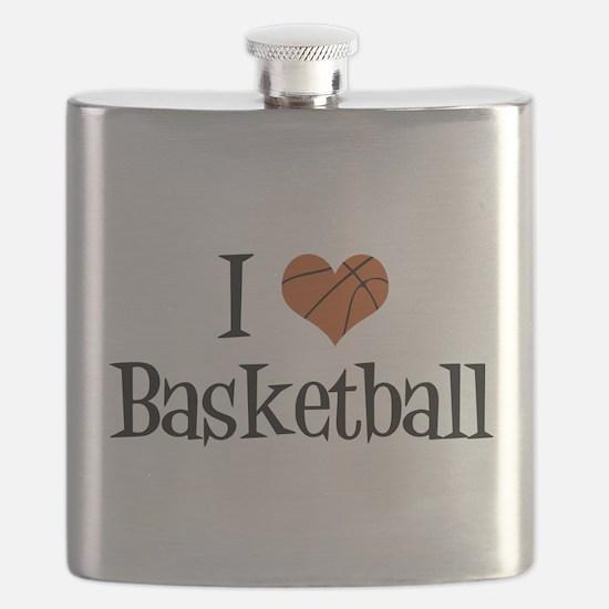 I Heart Basketball Flask