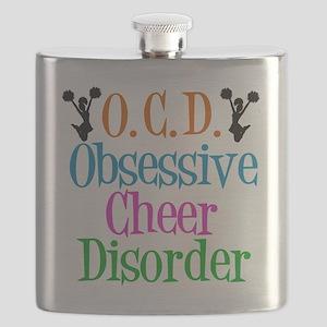 Cute Cheerleader Flask