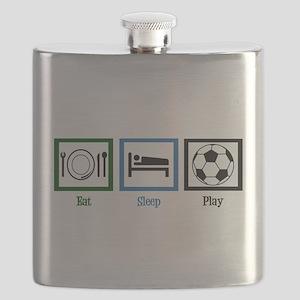Eat Sleep Soccer Flask