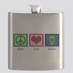 Peace Love Hockey Flask