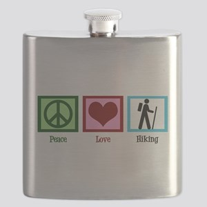 Peace Love Hiking Flask