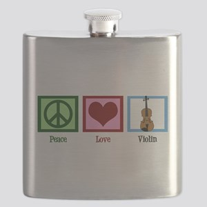 Peace Love Violin Flask