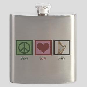 Peace Love Harp Flask