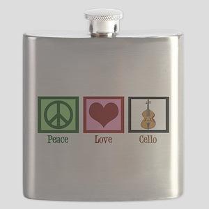 Peace Love Cello Flask