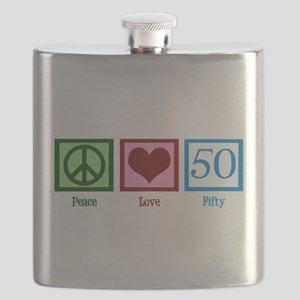 Peace Love 50 Flask