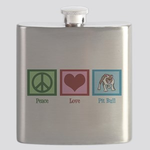 Peace Love Pit Bull Flask
