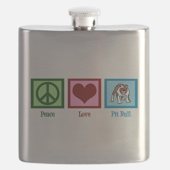 Peace Love Pit Bull Flask