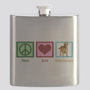 Cute Golden Retriever Flask