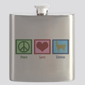 Peace Love Llamas Flask
