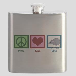 Peace Love Rats Flask