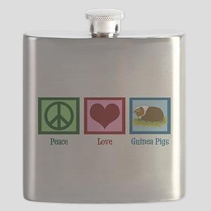 Peace Love Guinea Pigs Flask
