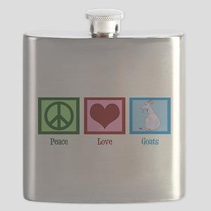 Peace Love Goats Flask