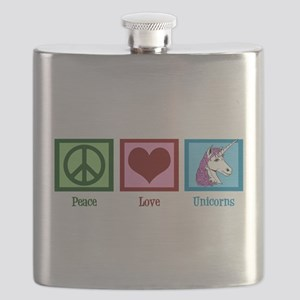 Peace Love Unicorns Flask