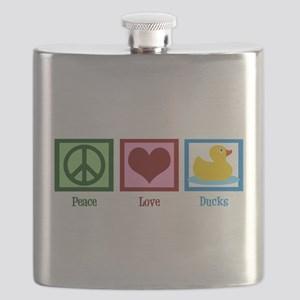 Peace Love Ducks Flask
