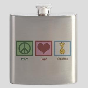Peace Love Giraffes Flask