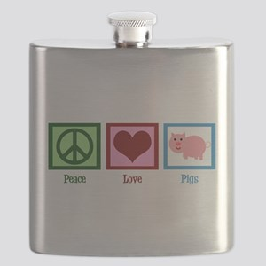 Peace Love Pigs Flask